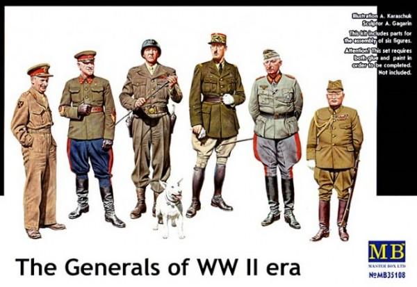 Byggmodell gubbar - The Generals Of WW II - 1:35 - MasterBox