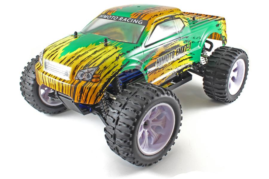 Radiostyrda bilar - 1:10 - EMXT-1 Green tiger - 4WD - 2,4Ghz - RTR