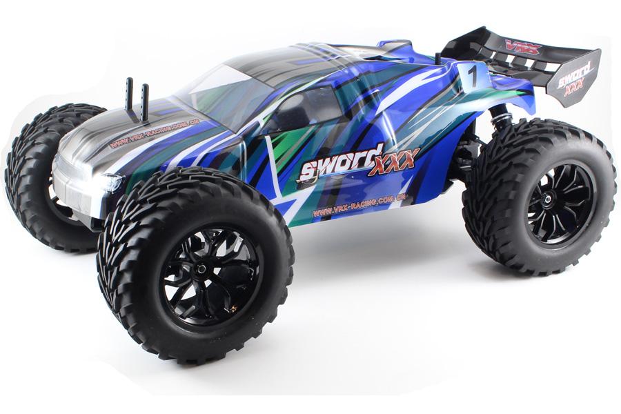 Metanol bil - 1:9 - Sword 3X Nitro N1 Blue - 4WD - 2,4Ghz - RTR