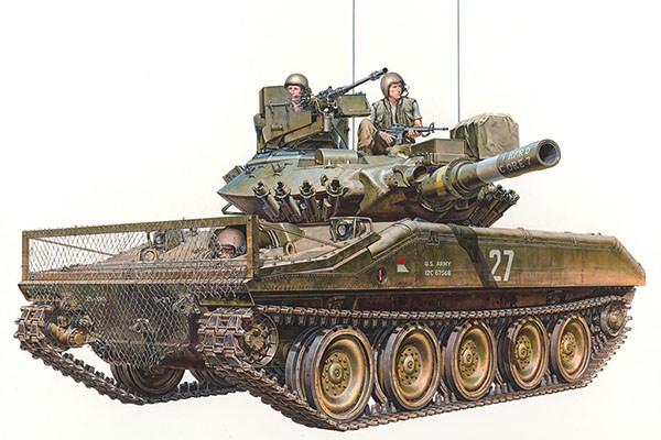 Byggmodell stridsvagn - U.S. Airborne Tank M551 Sheridan Vietnam War - 1:35 - Tamiya