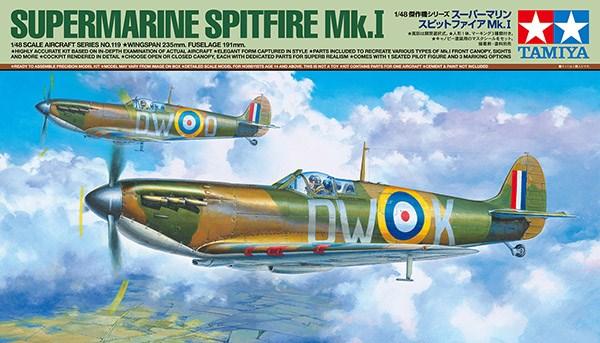 Byggmodell flygplan - Supermarine Spitfire Mk.I - 1:48 - Tamiya