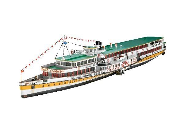 """Byggmodell ångfartyg - Gift Set Paddle Steamer """"Goethe"""" - 1:160 - Revell"""