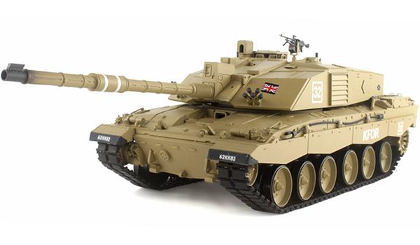Radiostyrd stridsvagn - V6 ny - 1:16 - Challenger 2 METALL Upg. - 2,4Ghz - s.airg. rök & ljud - RTR