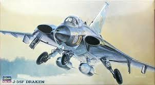 Byggmodell flygplan - J-35F Draken - 1:72 - Hasegawa