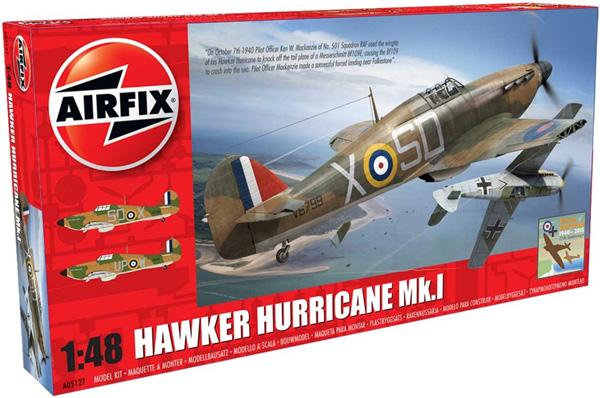 Flygplansbyggmodell - Hawker Hurricane Mk1 - 1:48 - Airfix