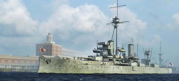Byggmodell krigsfartyg - HMS Dreadnought 1918 - 1:700 - Tr