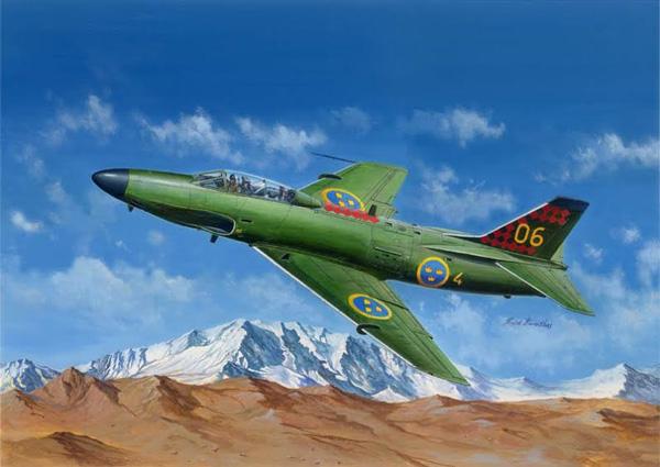 Flygplansmodell - Saab J-32B:E Lansen - 1:48 - HB