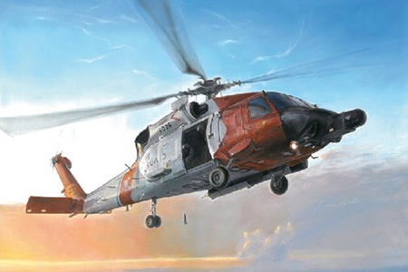 Helikopter byggmodell - Hh-60J Us Coast Guard - 1:48 - IT