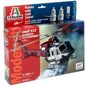 Helikopter byggmodell - Modelset: Bell 412 Los Angeles City Fire Dep. - 1:72 - IT