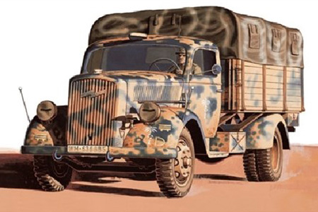 Stridsfordon byggmodell - Kfz. 305, 3 tons medium truck - 1:48 IT