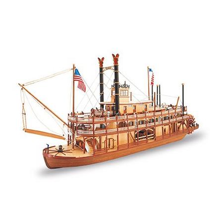 Byggsats båt trä - King Of Mississippi - 1:80 - ArtS