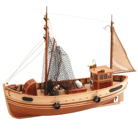 Byggsats båt trä - KRABBENKUTTER BREMEN - 1:35 - ArtS