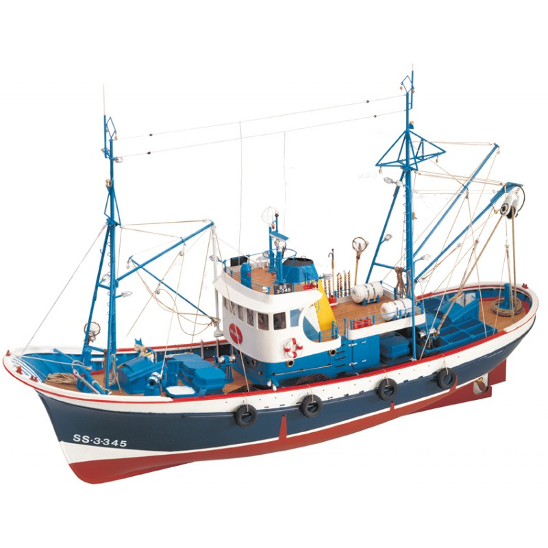 Byggsats båt trä - FISKEKUTTER MARINA II - 1:50 - ArtS
