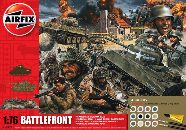 Byggmodell - D-Day Battlefront Gift Set - 1:76 -Airfix