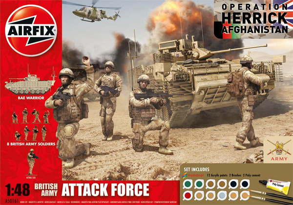 Byggmodell stridsfordon - British Army, Attack Force - 1:48 - Airfix
