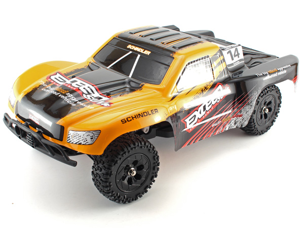Radiostyrd bil - 1:12 - BZ Exceed Short Course 4WD - 2,4Ghz - Orange - RTR