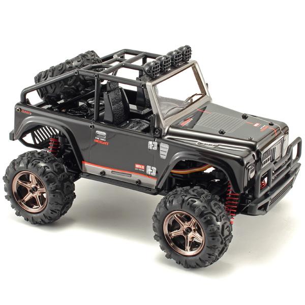 Radiostyrd bil - 1:24 - Desert Brave 4WD LED - 2,4Ghz - RTR