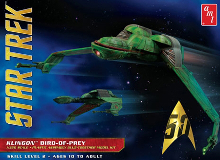 Byggmodell - Star Trek - Klingon Bird of Prey - 1:350 - AMT