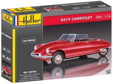 Byggmodell bil - Citro?DS 19 Cabriolet - 1:16 - HE