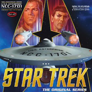 Byggmodell Star Trek - TOS Enterprise, 50th Anniversary Edition - 1:350 - Polar