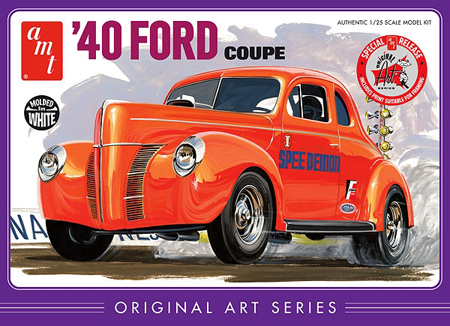 Byggmodell bil - 1940 Ford Coupe Original - 1:25 - AMT