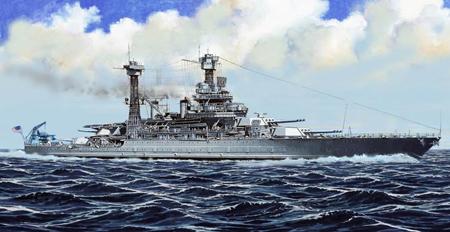 Byggmodell krigsfartyg - USS California BB-44, 1941 - 1:700 - TR
