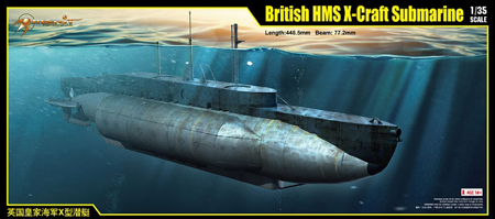 Byggmodell ubåt - British HMS X-Craft Submarine - 1:35 - M