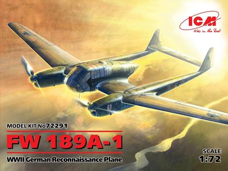 Byggmodell flygplan - FW 189A-1, WWII German Recon - 1:72 - ICM
