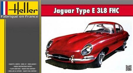 Byggmodell bil - Jaguar Type E 3L8 FHC - 1:24 - HE