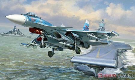 Byggmodell flygplan - Sukhoi SU-33 Flanker-D - 1:72 - Zvezda