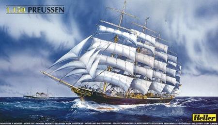 Byggmodell segelbåt - Preussen - 1:150 - He