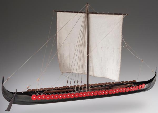 Trä byggmodell - Viking Longship - 1:35 - Dusek
