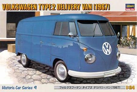 Byggmodell bil - Volkslagen Delivery Van Type 2. 1967, - 1:24 - He