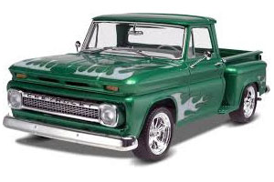Byggmodell bil - 65 Chevy Stepside Pickup 2n1 - 1:25 - Rv