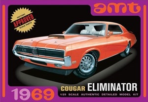 Byggmodell bil - 1969 Mercury Cougar, Orange - 1:25 - Amt