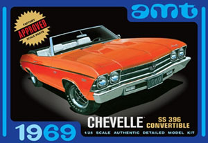 Byggmodell bil - Chevell Convertible 1969 - 1:25 - Amt
