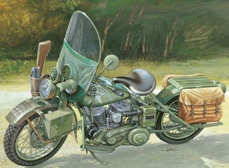 Byggmodell motorcykel - U.S. Army WW II Motorcycle - 1:9 - IT