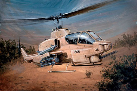 Byggmodell helikopter - AH-1W Supercobra - 1:48