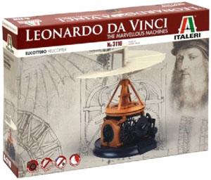 Byggmodell historia - Leonardo da Vinci Helicopter - IT