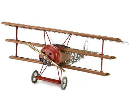 Träbyggsats flygplan - Fokker DR.I 1918 RED BARON - 1:16 - Art