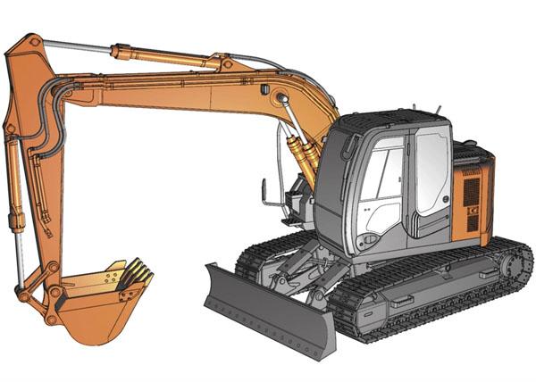 Byggmodell grävmaskin - Hitachi excavator Zaxis - 1:35 - Hg