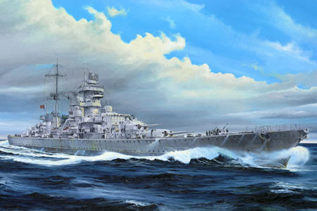 Byggmodell krigsfartyg - Prinz Eugen 1945 - 1:350 - TR