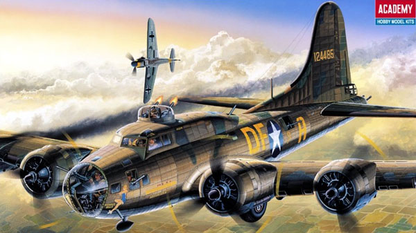 Byggmodell flygplan - B-17F Memphis Belle - 1:72 - Academy