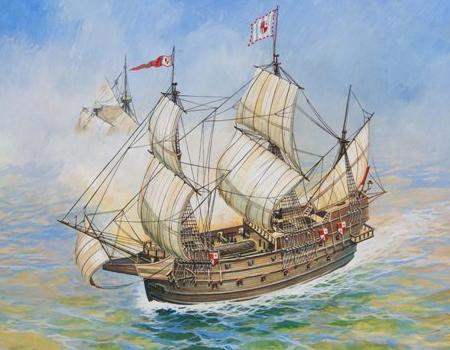 Byggmodell segelbåt - Spanish ship San Martin - 1:350 - Snap - Zv