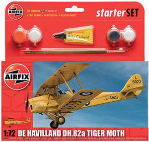 Byggmodell flygplan - De Havilland D.H.82a Tiger Moth - Set - 1:72 - AirFix