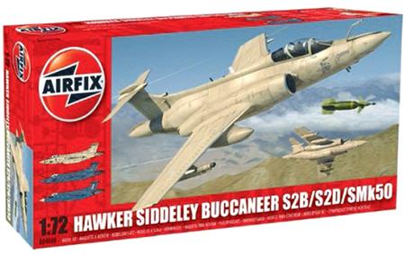 Byggmodell flygplan - Hawker Siddeley Buccaneer S2B/S2D - 1:72 - AirFix