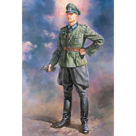 Byggmodell gubbe - Wehrmacht Officer - 1:16 - Tamiya