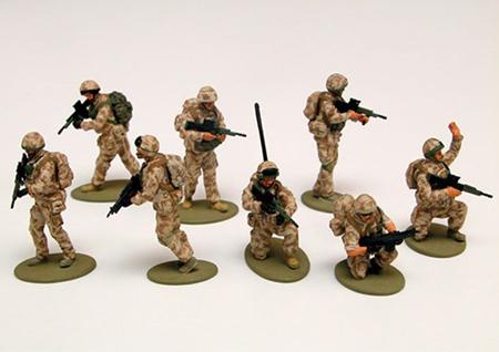 Byggmodell gubbe - Modern British Army Troops - 1:48