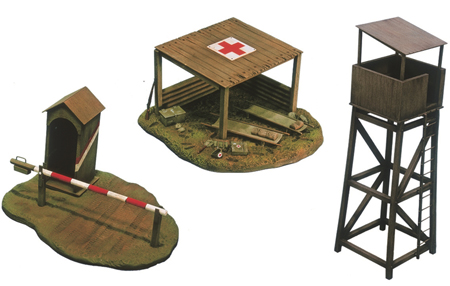Byggmodell - Battlefield buildings - 1:72 - IT