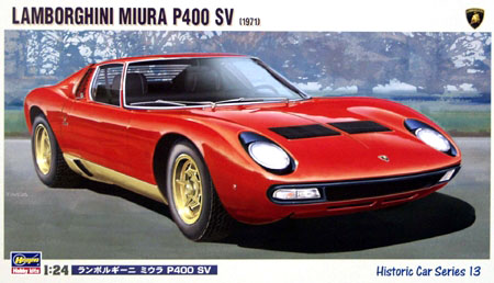 Byggmodell bil - Lamborghini Miura SV - 1:24 - Hg